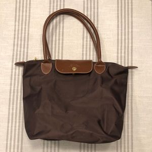 Longchamps Le Pliage Small Tote - Dark Brown maybe
